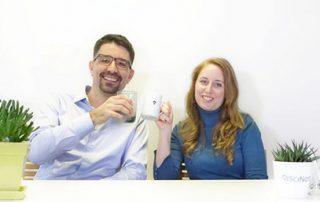 Zala and Matjaz resenting new SciNote functionalities
